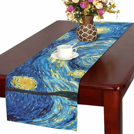 MKHERT The Starry Night Table Runner For Wedding Party Decoration Kitchen Decor Decoration 14x72 inch (Night Table Runner)