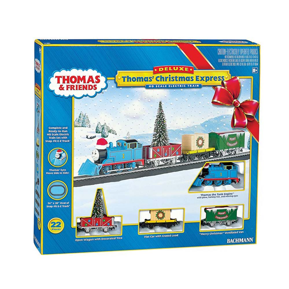 Bachmann Trains Thomas and Friends Thomas' Christmas Express HO Scale Ready-to-Run Electric Train Set