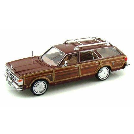 1979 Chrysler LeBaron Town & Country Wagon, Red With Woodie Siding - Showcasts 73331 - 1/24 Scale Diecast Model Car (Brand New, but NOT IN