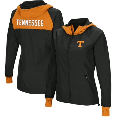 Tennessee Volunteers Colosseum Backside Hooded Full-Zip Windbreaker Jacket - Charcoal/Tennessee -