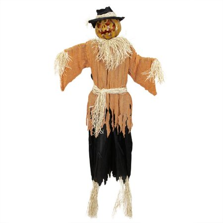 Northlight Seasonal Creepy Jack-o'-Lantern Scarecrow Halloween Decoration