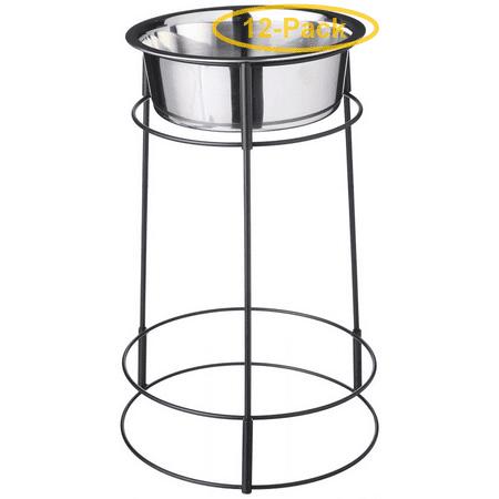 Spot Hi-Rise Single Stainless Steel Diner 2 Quart (14.25 Tall x 6.5 Diameter Bowl) - Pack of 12