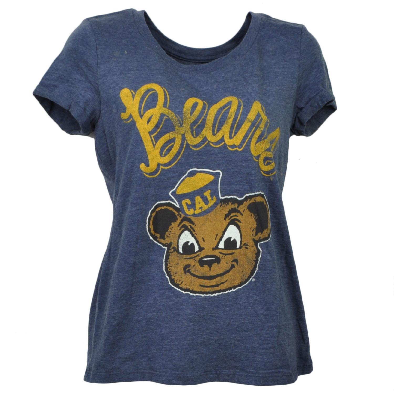 NCAA California Golden Bears Blue Crew Neck Tshirt Tee Womens Short Sleeve Small