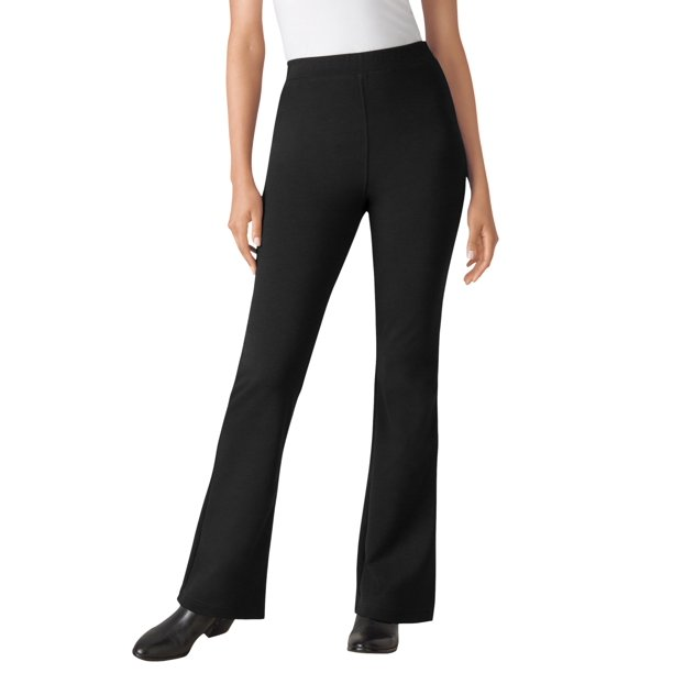 Woman Within Women's Plus Size Bootcut Ponte Stretch Knit Pant Pant
