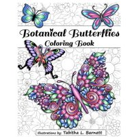 Botanical Butterflies Coloring Book : 58 Beautiful Tangled and Floral Butterflies to Color