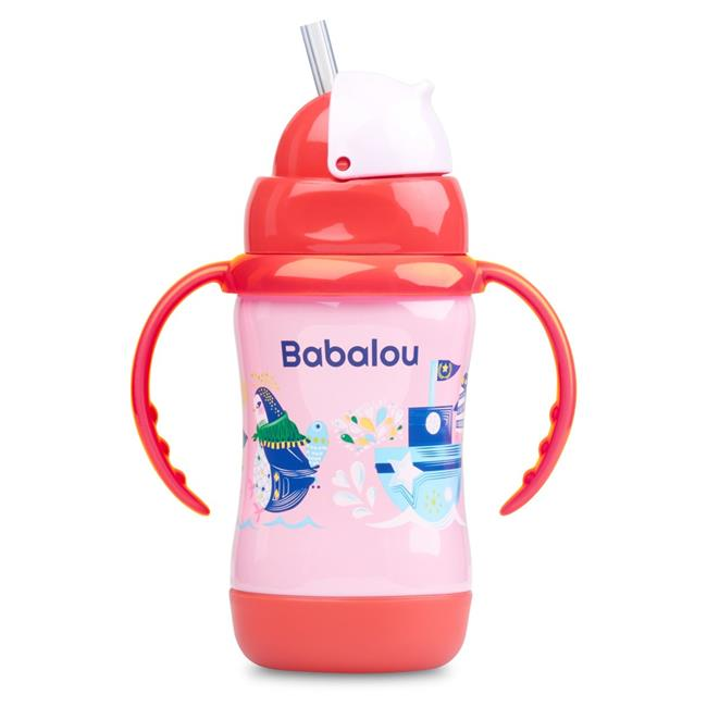 Copia Products BL-180S-PKP 180 ml Babalou Stainless Steel Sippy Cup, Pink Penguin Set