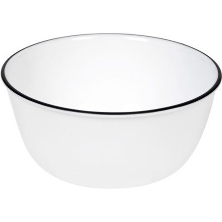 Corelle Livingware 28Oz Bowl Black Rimmed  Set Of 3