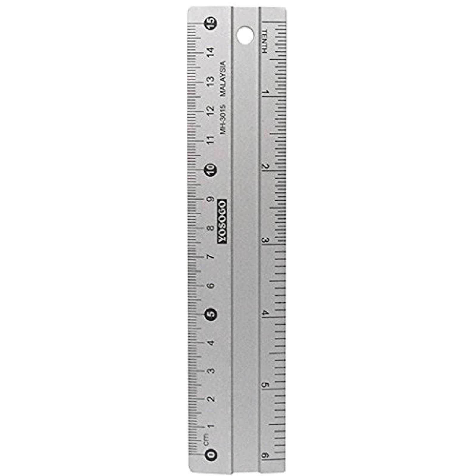 20 inch / 20 cm Anti Slip Aluminum Ruler  Pack of 20