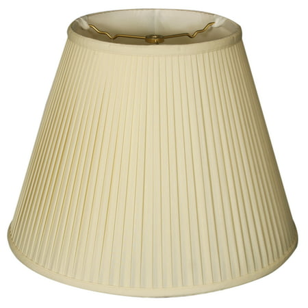 Royal Designs 18 Deep Empire Side Pleat Lamp Shade Eggshell