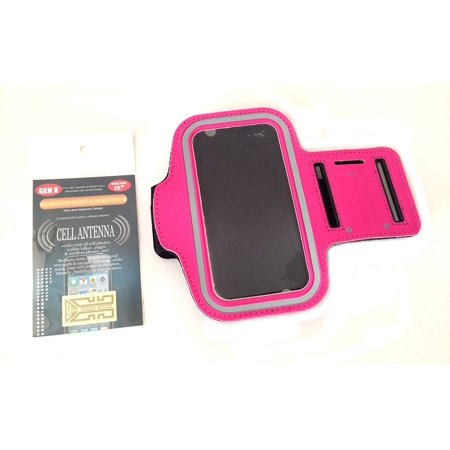Workout Sports Gym Armband Strap Case for Samsung Galaxy S4 I9500 - Hot Pink, Compatible for Samsung Galaxy S4 / I9500 + free cell phone antenna booster By ACCESSORY 4U INC Ship from US Digital Antenna Cellular Phone
