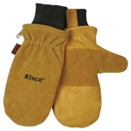 Kinco 901L Ski Gloves, Pigskin Leather, Reinforced Palm And Fingers, Heatkeep Thermal Lining, Large