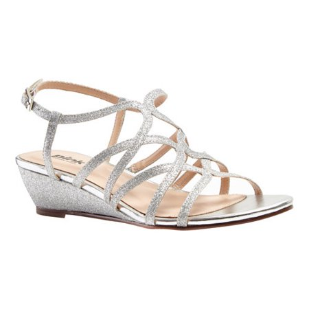 Women's Pink Paradox London Opulent Wedge Sandal - Toms Ivory Wedges