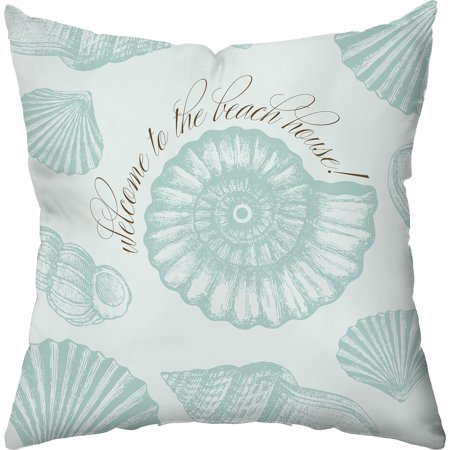 - Checkerboard Lifestyle Welcome to the Beach House! Throw Pillow, Blue