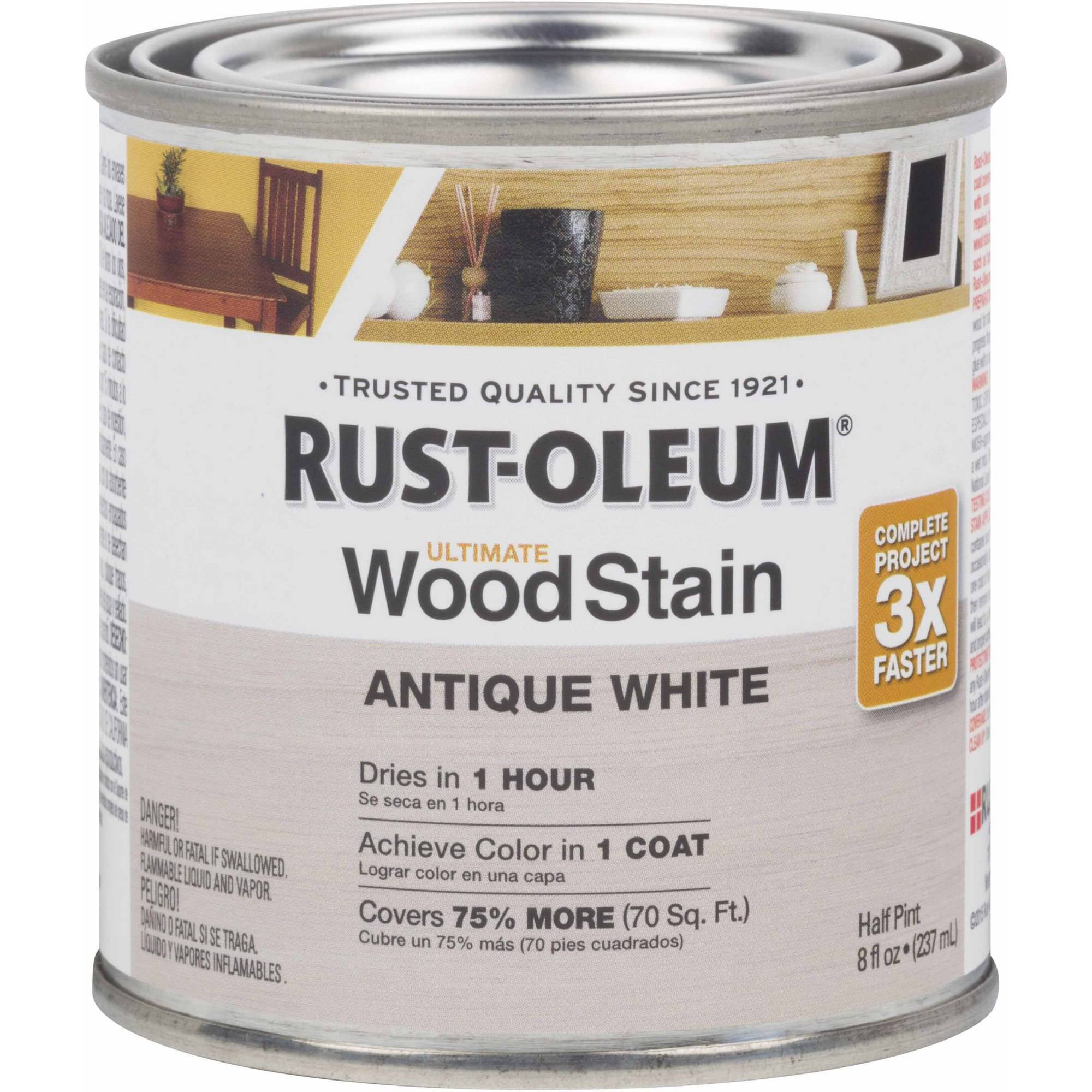 Rust-Oleum Ultimate Wood Stain Half-Pint, Antique White