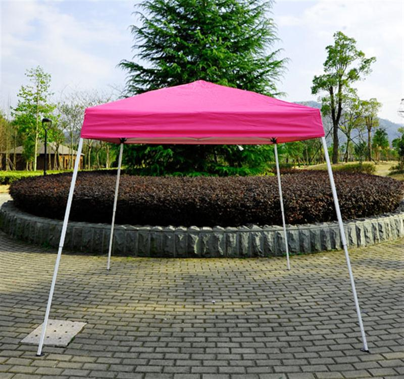 Outsunny 8' x 8' Slant Leg Easy Pop-Up Canopy Party Tent - Pink