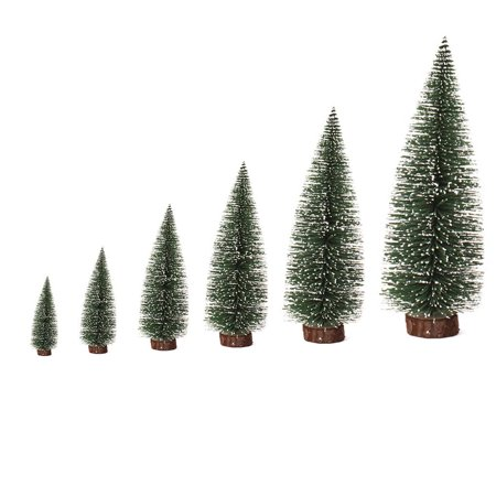Holiday Time Artificial Tabletop Mini Pine Christmas Trees Decorations  Festival Plastic Miniature Trees - Holiday Time Artificial Tabletop Mini Pine Christmas Trees