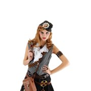 Steampunk Naval Officer Gray Hat by 290715