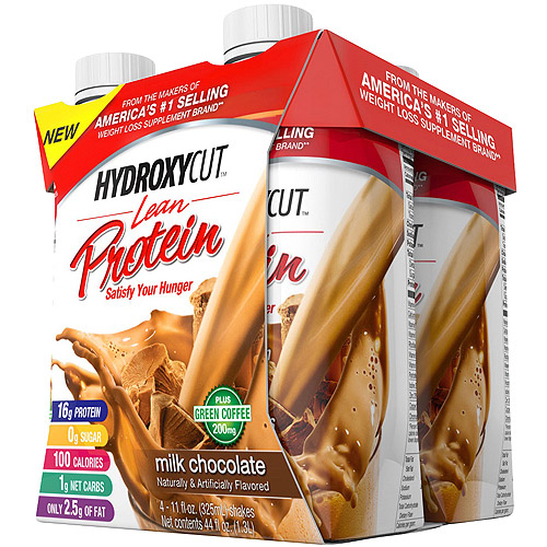Hydroxycut Lean Protein Milk Chocolate Protein Shakes, 11 fl oz, 4 count