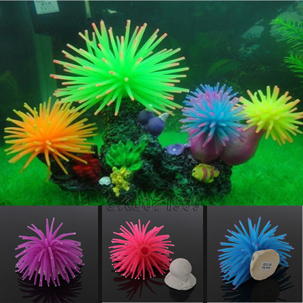 1Pcs Silicone Aquarium Fish Tank Artificial Coral Plant Underwater Ornament Fish Tank Decorative