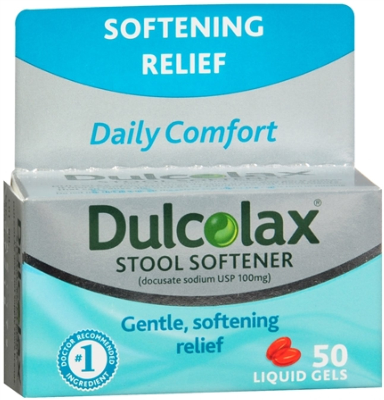 Dulcolax Stool Softener Liquid Gels 50 Liquid Gels (Pack of 3)