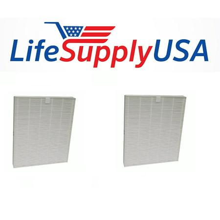2 Pack HEPA Air Purifier Filter Fits Oreck AirInstinct 75, 100, 150 &