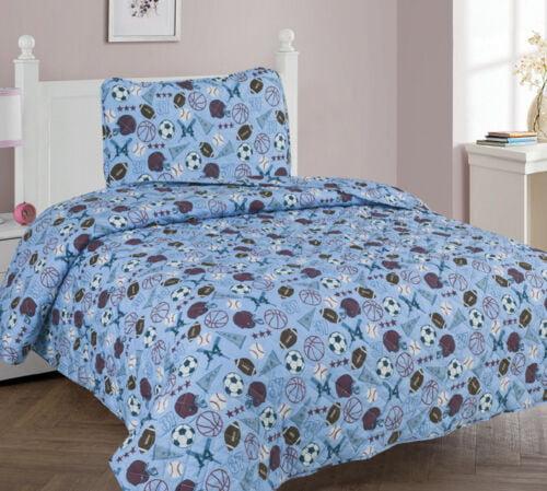2//3 Piece Kids//Teens Soft Quilting Bedspread Bedding QUILT Set MVP