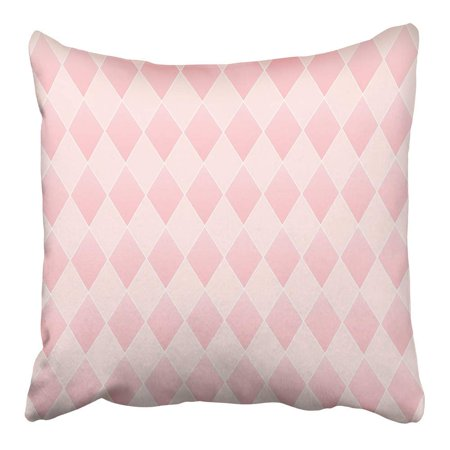 Gradient Design (CMFUN Colorful Rhombus Geometric Diamond with Tender Pink and Gradient Design Pillowcase Cushion Cover 20x20 inch)