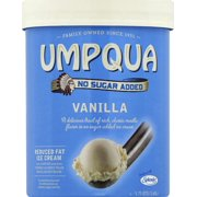 Umpqua No Sugar Added Vanilla Ice Cream, 1.75 quarts