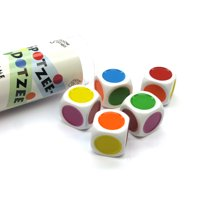 Spotzee-Dotzee: A Game of Colors and Counting 5 Dice Game Set with Travel Tube