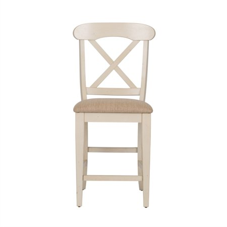 "Liberty Furniture Ocean Isle 24"" X Back Counter Stool in Bisque - image 6 de 9"