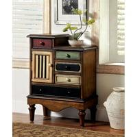 Furniture of America Hinkle Vintage Hallway Chest, Antique Walnut