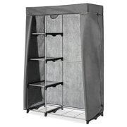 Cover Only for Whitmor 6779-3044 Double Rod Closet (not included) - Heavy Duty Zipper - Gray
