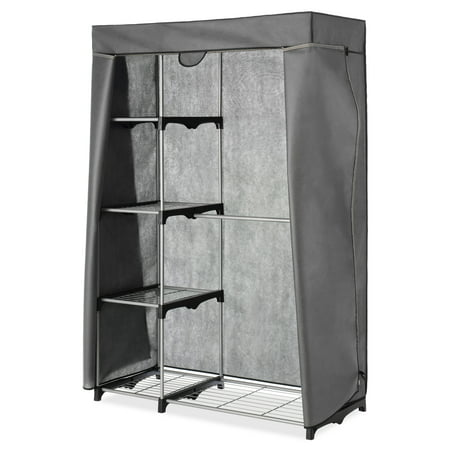 - COVER ONLY for Whitmor Double Rod Closet Gray