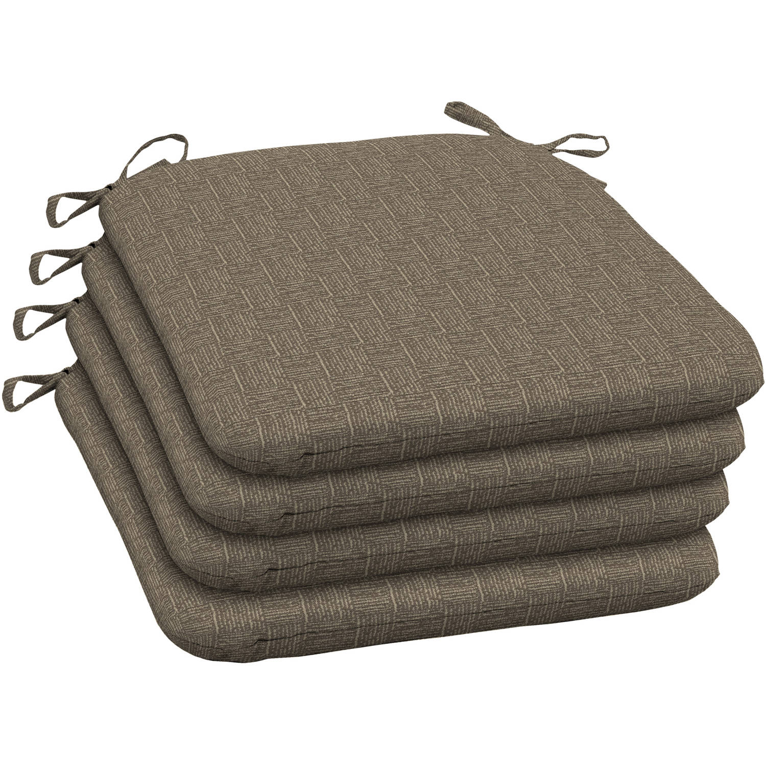 Arden Outdoors Brown Woven Wrought Iron Seat Pad, Set of 4