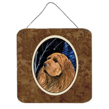 Carolines Treasures SS8391DS66 6 x 6 in. Starry Night Sussex Spaniel Aluminium Metal Wall or Door Hanging Prints - image 1 of 1