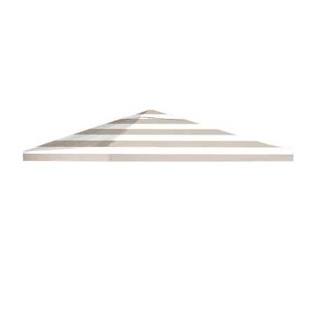 Garden Winds Signature Series 10 x 10 Single Tiered Replacement Gazebo Canopy Top Cover - Standard 350 - Cabana Beige ()