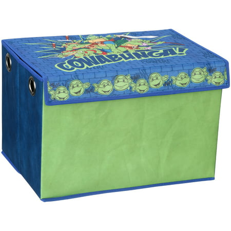 Teenage Mutant Ninja Turtles Fabric Toy Box by Delta - 3 Turtles Keepsake Boxes