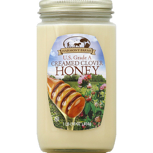 Harmony Farms Creamed Clover Honey, 16 oz, (Pack of 6)