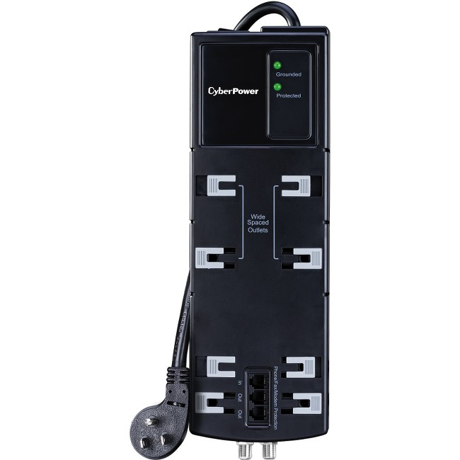Cyber Power Systems HT806TC 8 Outlet Surge Protector