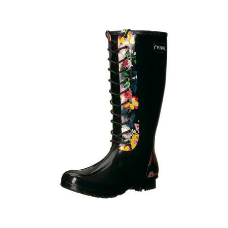 Roma Boots Women S Opinca Lace Up Rain Boots Walmart Canada