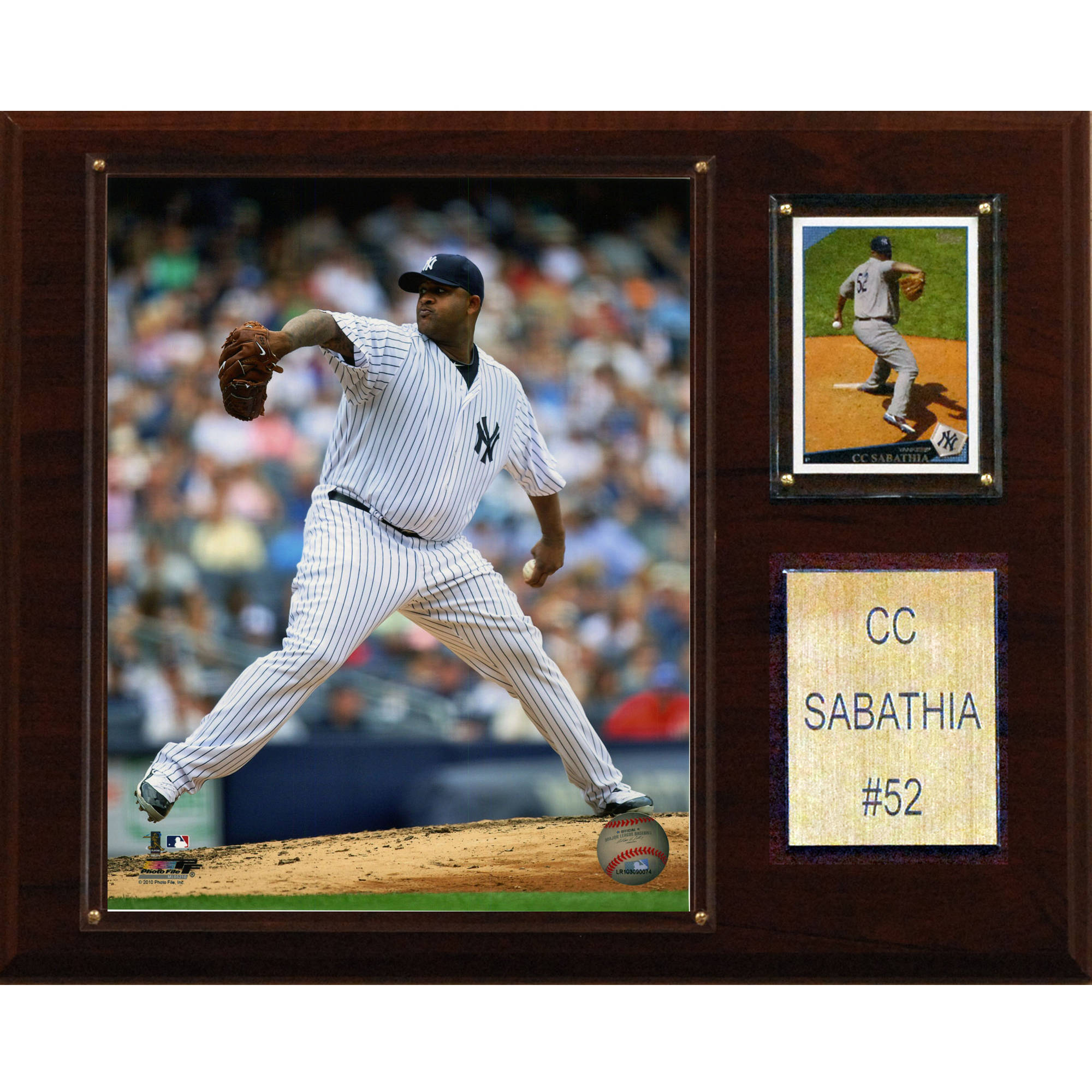 C&I Collectables MLB 12x15 CC Sabathia New York Yankees Player Plaque