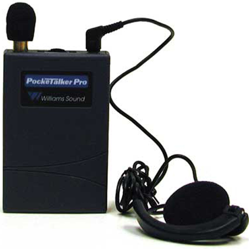 Williams Sound PKTPRO1-E14 Pocketalker Pro with Dual Mini Earphone