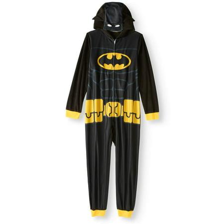 Batman - Boys  Hooded Pajama Onesie Union Suit - Walmart.com 23b0fe9fc26f