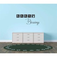 Do It Yourself Wall Decal Sticker Baby Blessings Blocks Toys New Born Boy Girl Nursery Life Celebration Quote 10x20