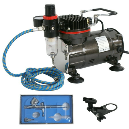 Zeny Dual Action Multi Purpose Airbrush Kit Custom Paint Set Air Compressor Airbrushing Painting