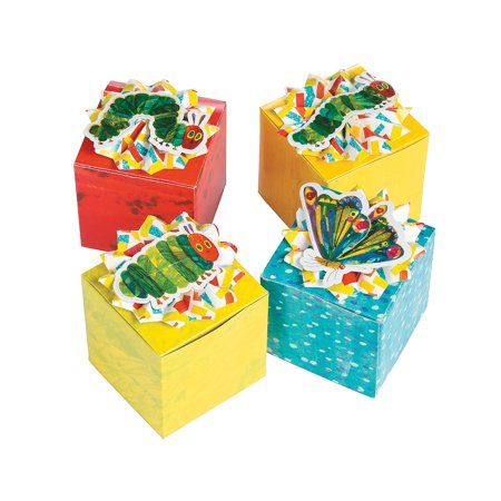 Fun Express - Very Hungry Caterpillar Favor Boxes for Birthday - Party Supplies - Containers & Boxes - Paper Boxes - Birthday - 12 Pieces](Caterpillar Birthday Party)