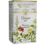 Celebration Herbals Ginger Root Tea Organic, 24 Ct