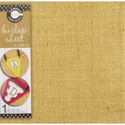Canvas Unsewn Burlap Sheet Jute, 12-Inch by 12-Inch, Wheat Multi-Colored
