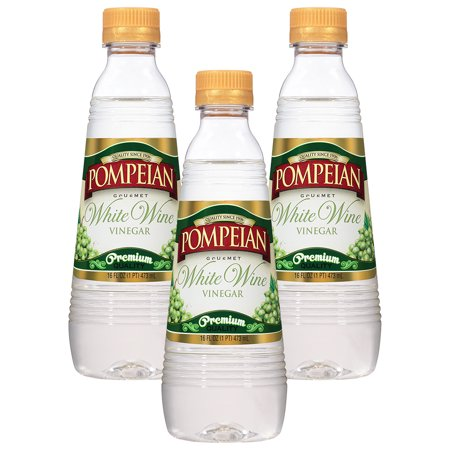 (3 Pack) Pompeian White Wine Vinegar, 16 fl oz