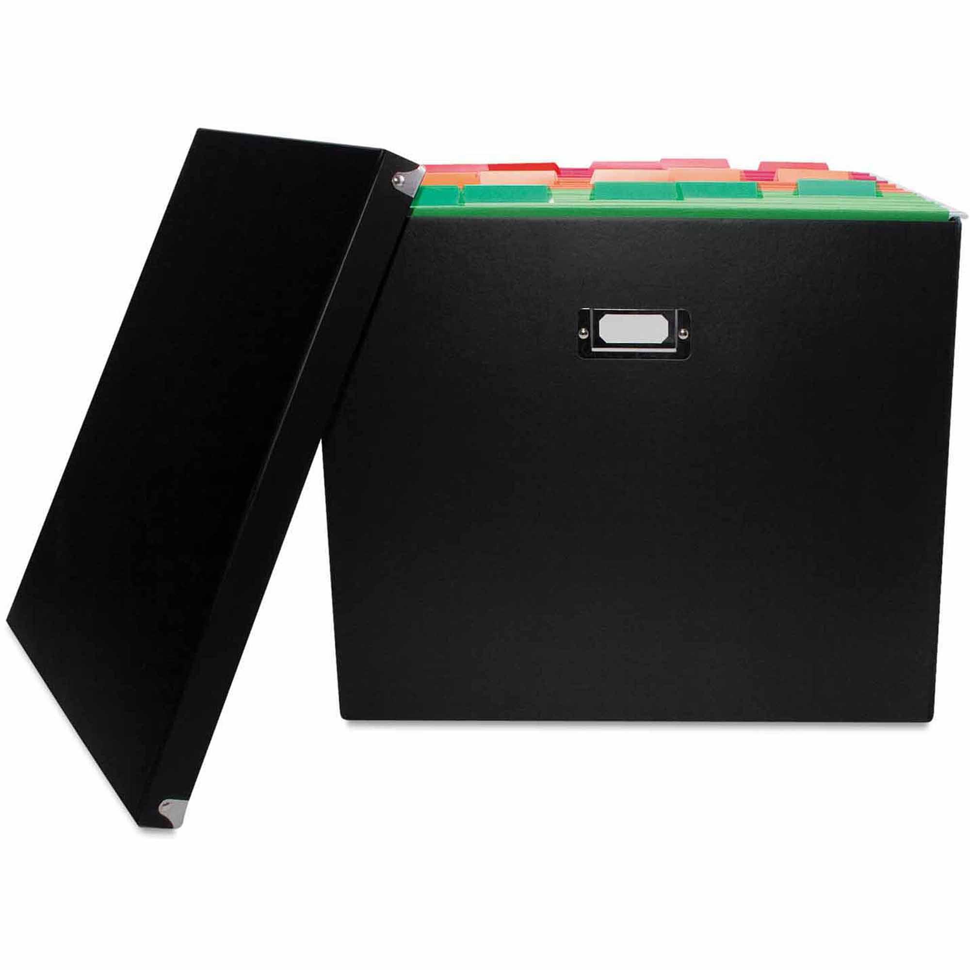 Advantus File Box, Letter/Legal, Black